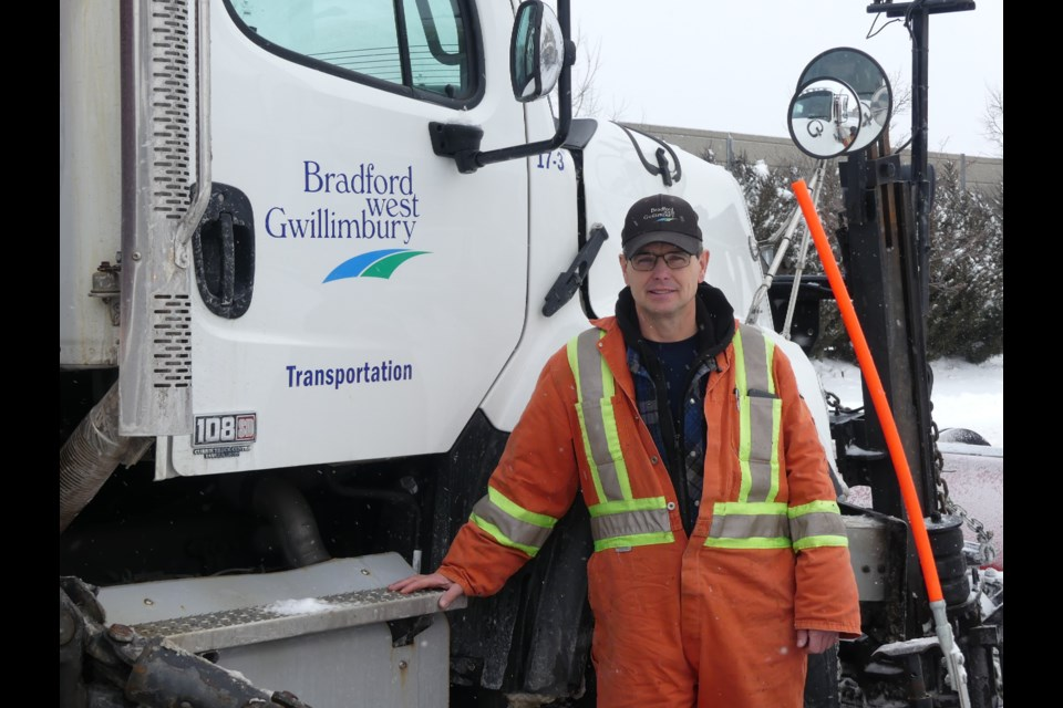 Brian Lloyd, lead hand for the Town of Bradford West Gwillimbury's transportation department and a snow plow driver. Jenni Dunning/BradfordToday