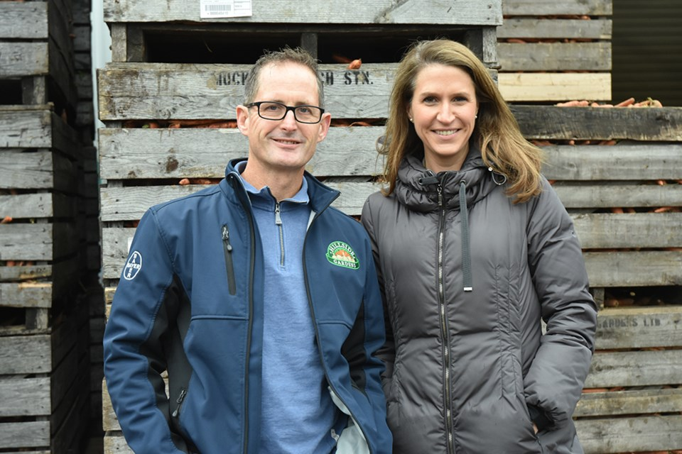 MPP Caroline Mulroney joins Ron Gleason, president of Hillside Gardens in the Holland Marsh, for a tour and discussion. Miriam King/BradfordToday