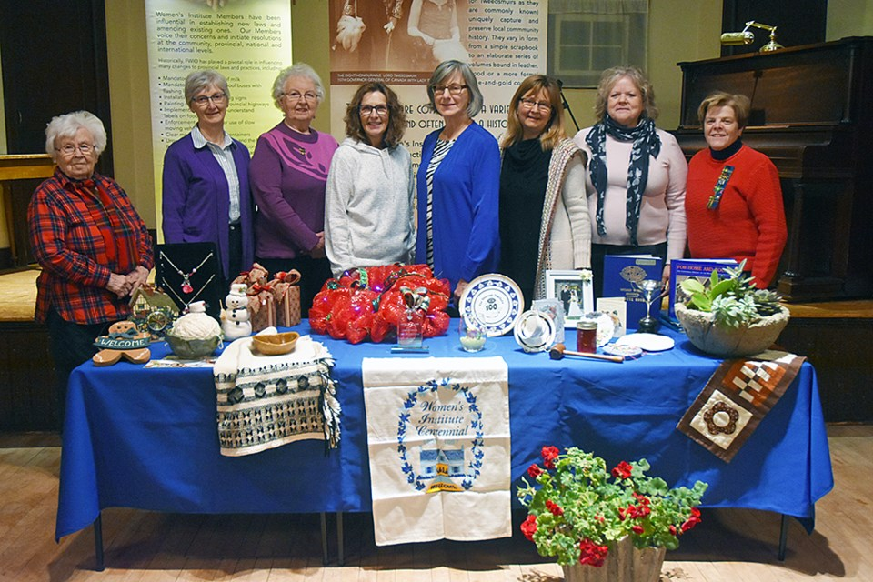 Members of the Tec We Gwill Women's Institute, from left - Sylvia Plant, Bonnie West, Gladys Fieldhouse, Diana Dundas, Michelle Rich, Andrea Nolan, Teresa Demoe, and Donna Jebb. Miriam King/Bradford Today