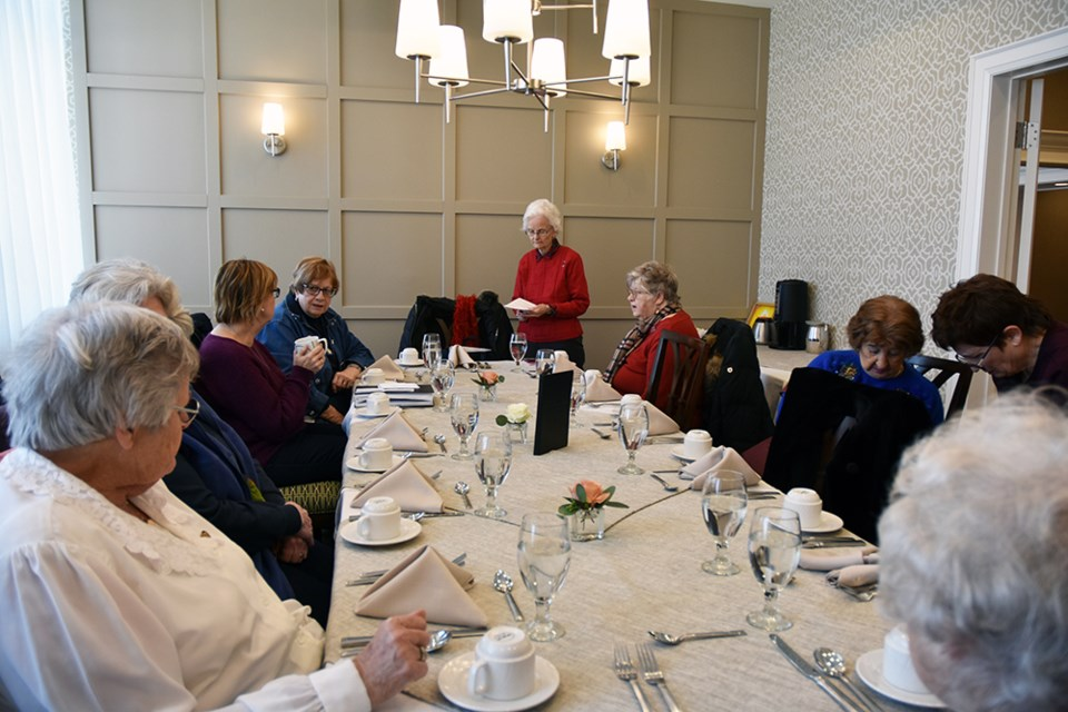 Members of the Bond Head Women's Institute meet over lunch at Holland Gardens Retirement Residence. Miriam King/Bradford Today
