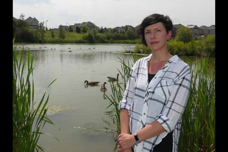 Kallie Jackson of Bradford West Gwillimbury wants people to stop feeding ducks bread, which can harm their health. Jenni Dunning/BradfordToday