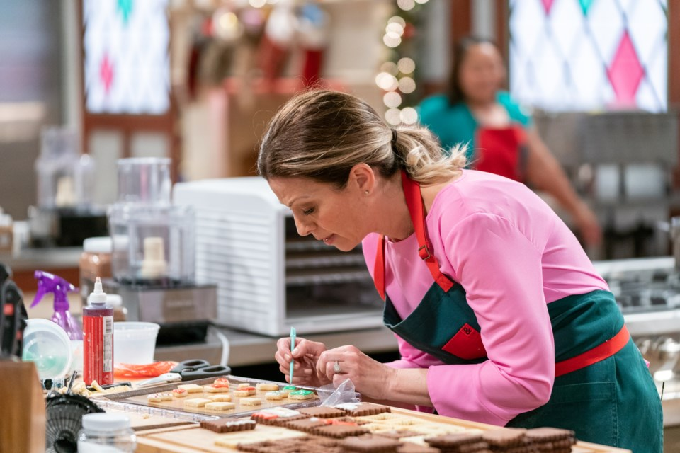 Contestant Mary Valentino during the second round, The Display Challenge. Courtesy of Food Network