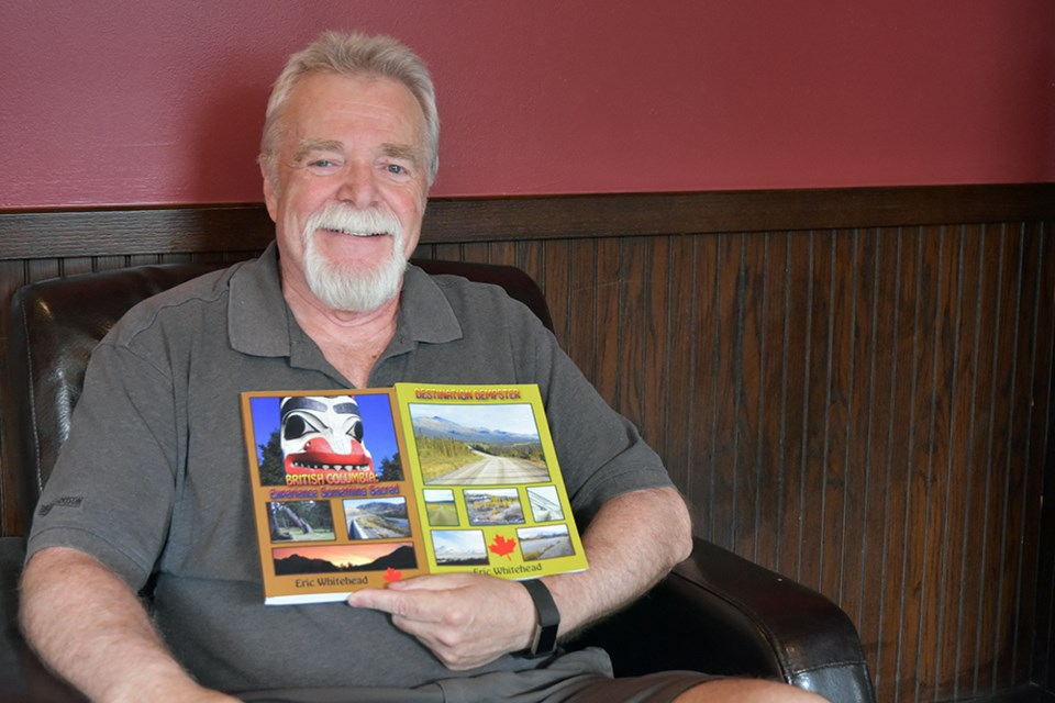 Eric Whitehead, local author, with his two latest books - Destination Dempster, and British Columbia: Experience Something Sacred. Miriam King/Bradford Today