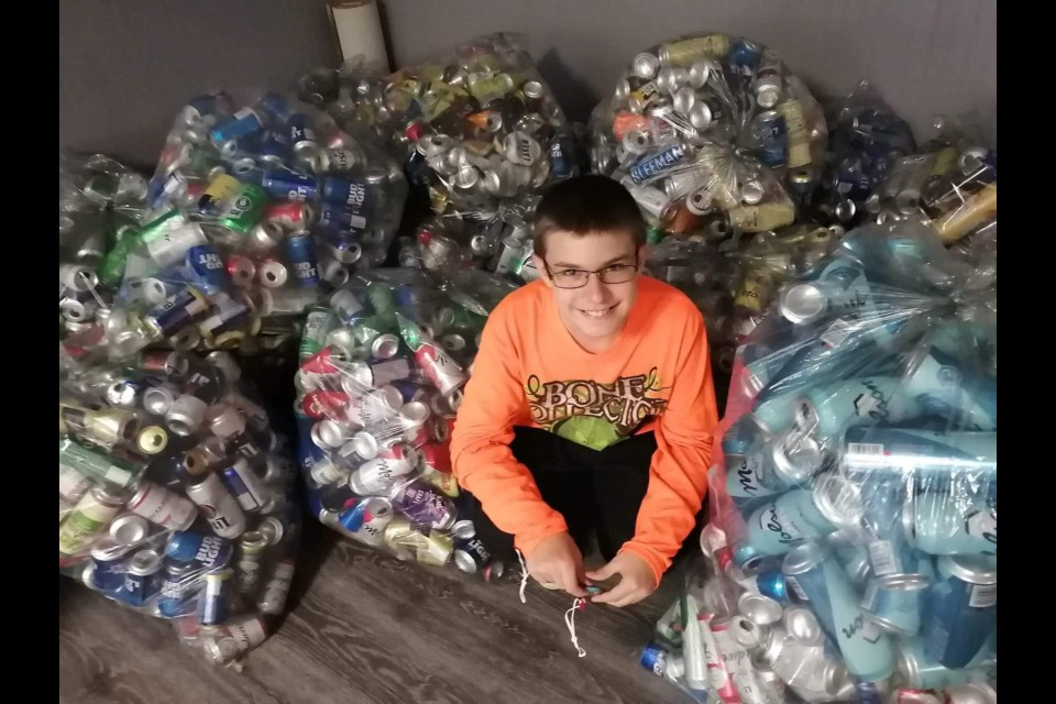 Riley Hollingshead-Gallagher loves giving back to his community and helping others.
