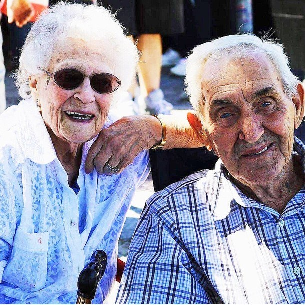 Marie and Howard Tizzard met when they were just 13 and 14 years young and fell instantly in love. Marie is now 91 and Howard is 92. Submitted