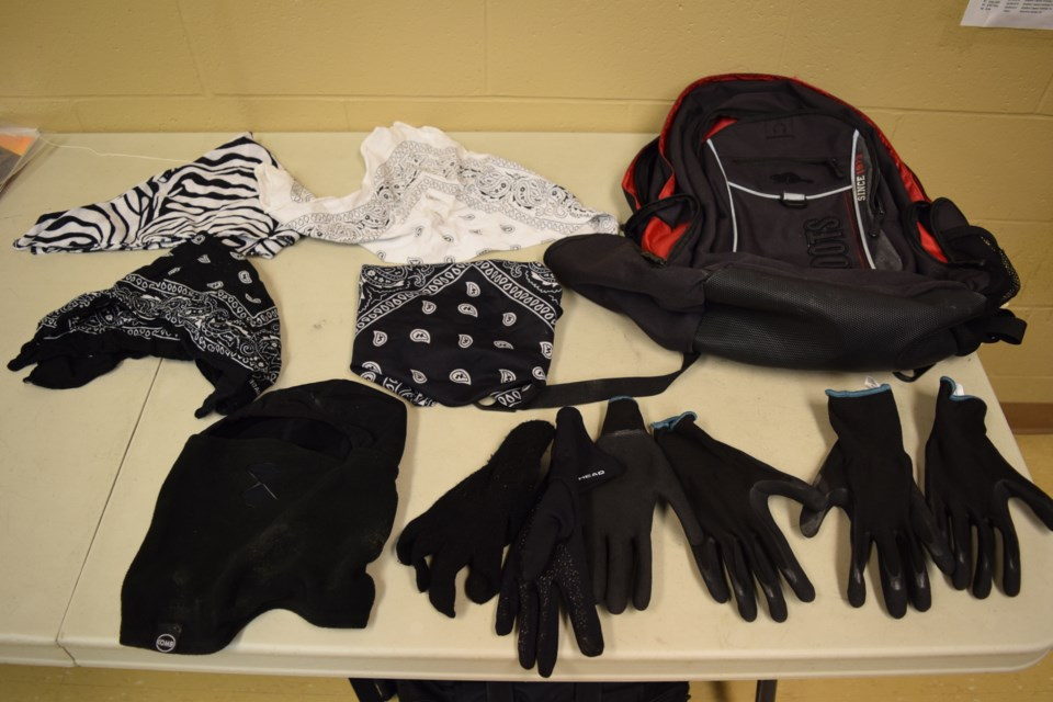 Photo of seized items