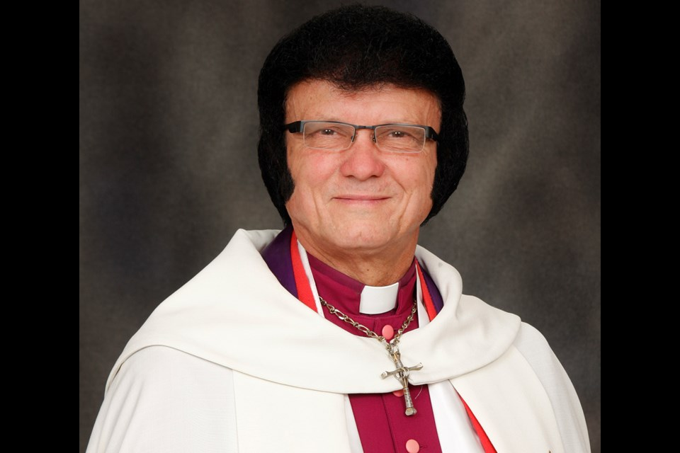 Elvis tribute artist and Ontario Archbishop of Christ the King, Graceland Church in Newmarket, Dorian Baxter is also the Progressive Canadian Party candidate in York-Simcoe. Submitted photo