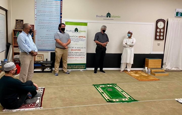 Mayor Rob Keffer and Coun. Jonathan Scott visited the Bradford Islamic Centre on Friday afternoom.