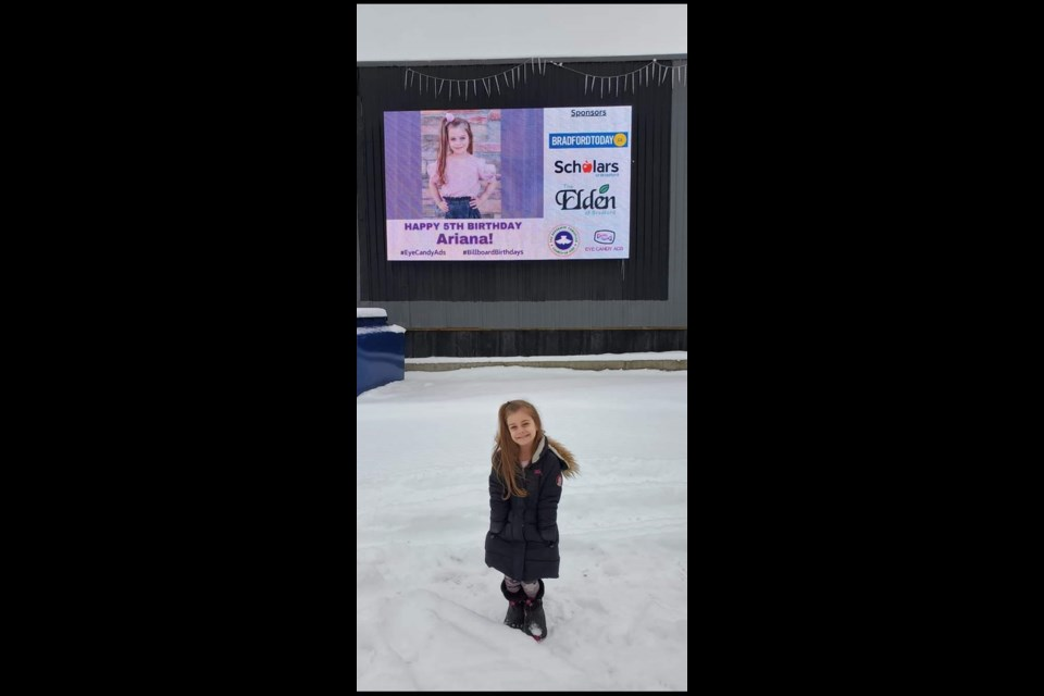 Celebrate your child's birthday or a senior's milestone with a FREE digital ad with picture on Eye Candy Ads billboard on Bridge Street, Bradford.