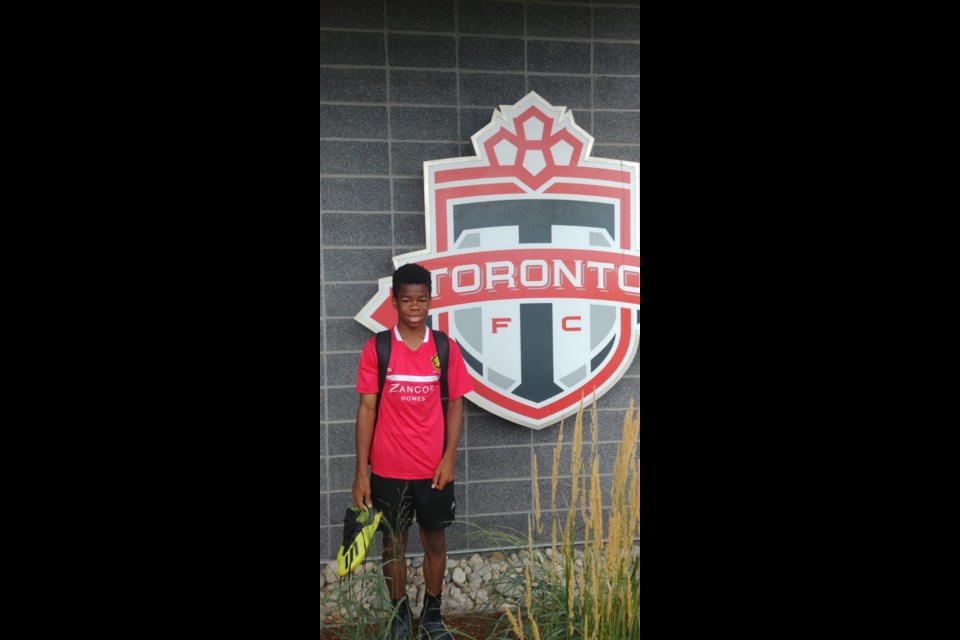 Bradford resident, Joses Chukwu, has been selected to train with the TFC Academy 'A' Team. Submitted Photo.