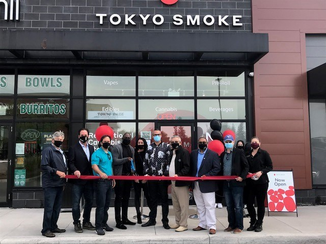 Grand Opening of Tokyo Smoke Bradford - ribbon cutting ceremony.