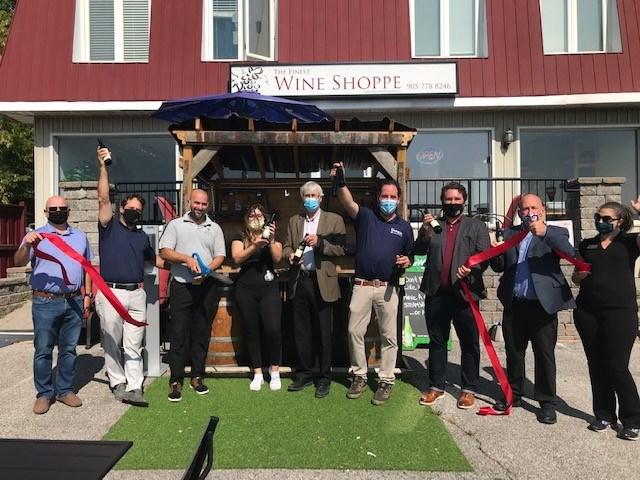 Official grand opening of The Finest Wine Shoppe in Bradford.