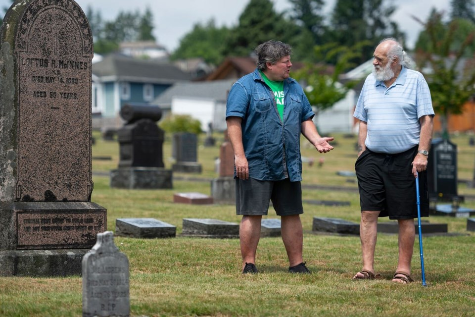 Ben Doyle, left, pays tribute to a trio of parents of missing children. Ray King, right, was living in New Westminster with his son Ray King Jr. when he was killed by a serial killer.