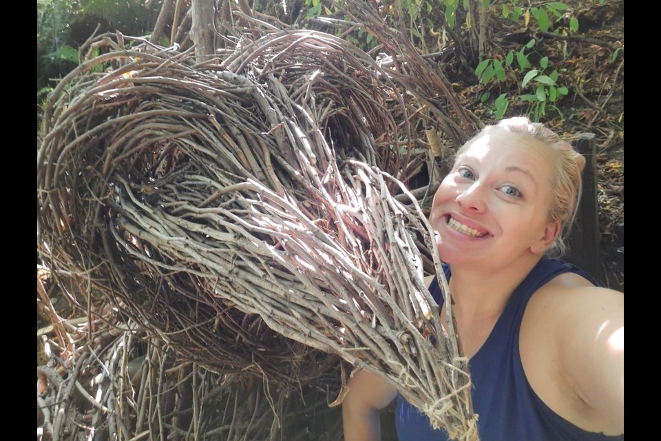Burnaby artist Nickie Lewis recently completed three sculptures in New Westminster's Hume Park.