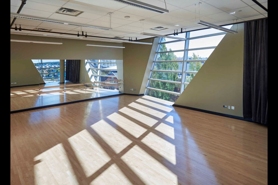 Performing artists participating in a new city residency will have access to the Anvil Centre dance studio.