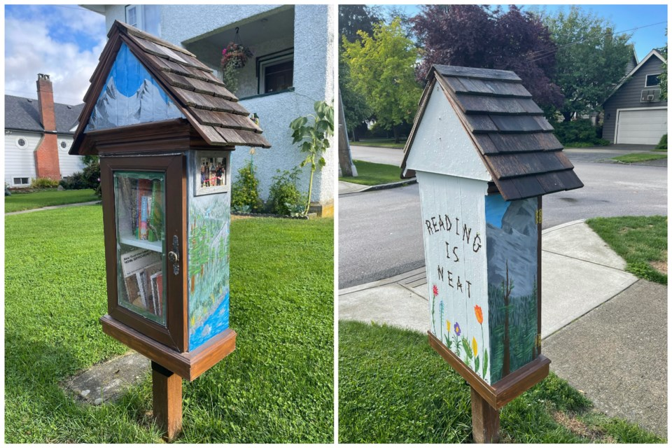 This little free library is on Fourth Street, between Regina Street and Fifth Avenue.