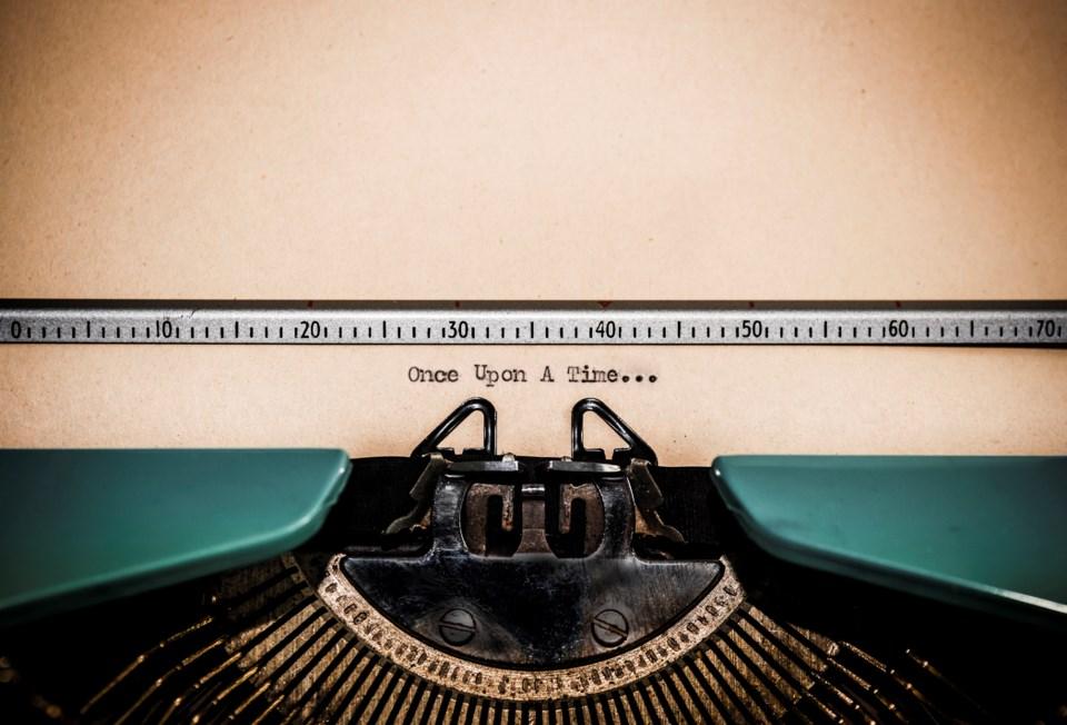 Creative Writing typewriter concept