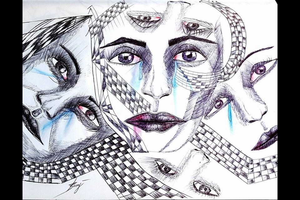 Untitled #4, from the Untold Stories series by Burnaby artist Taslim Samji.
