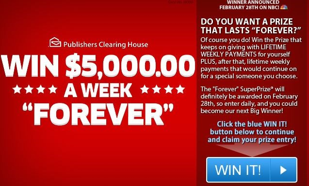 00publishers clearing house