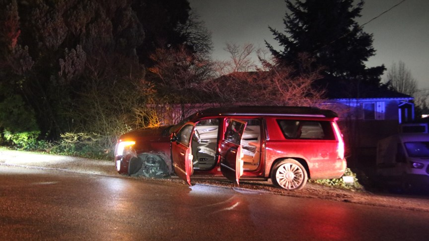 Just before midnight, Burnaby RCMP and firefighters responded to an incident in the area of Royal Oak Avenue and Marine Drive.