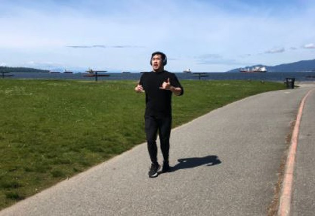Vince LI is now running after recovering from COVID-19.