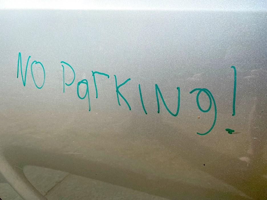 Burnaby homeowner wrote 'no parking' warning on car door