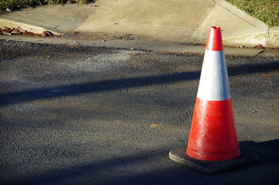 orange cone cones parking street