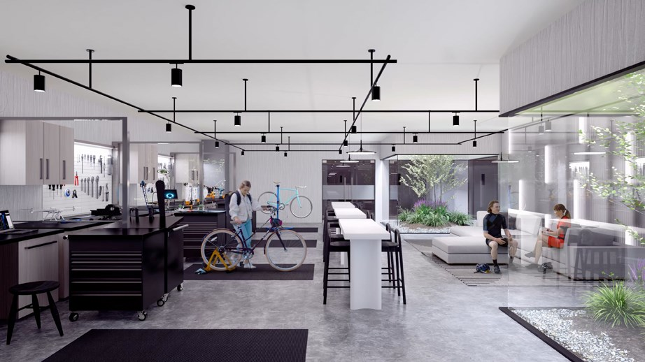 """Concord Pacific in Burnaby unveiled what it calls the """"world's largest and most comprehensive bike amenity ever planned for a condo development."""""""