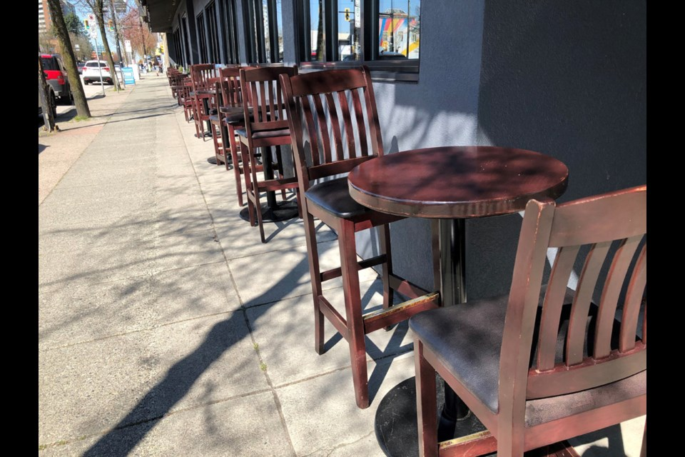The new outdoor patio at the Admiral Pub on Hastings near Gilmore.