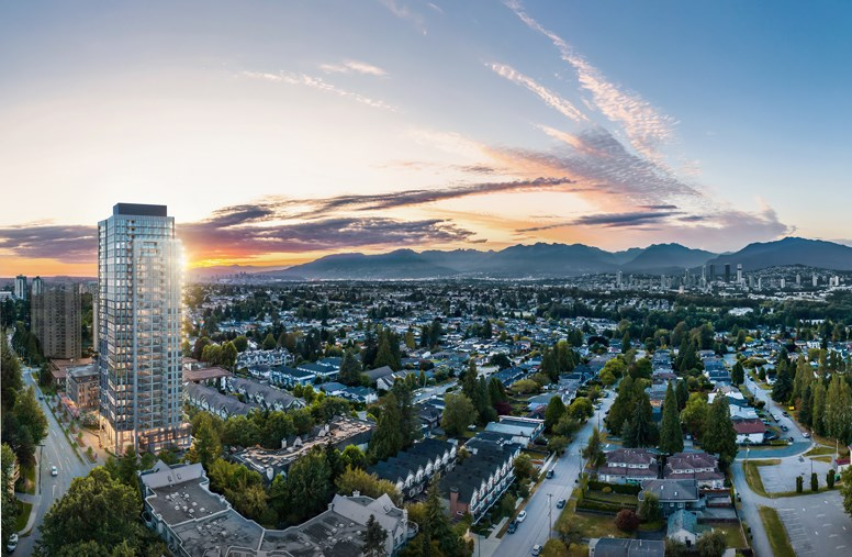 """""""Located on the quieter side of Metrotown, Qualex-Landmark's twenty fourth residential community will feature a collection of 247 serene one, two and three- bedroom residences in a 31-storey high rise building,"""" says a news release."""