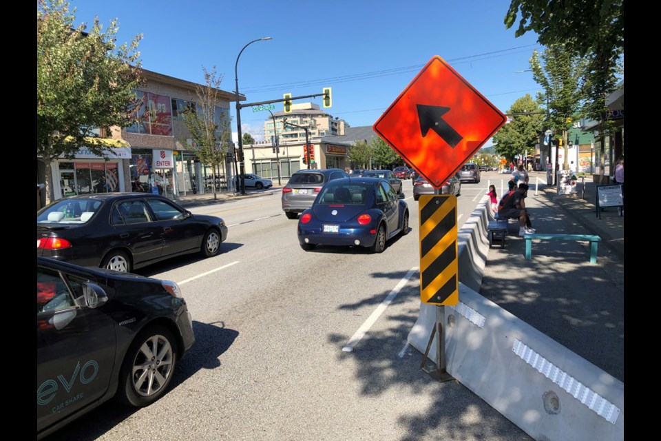 Road changes at Hastings and Gilmore.