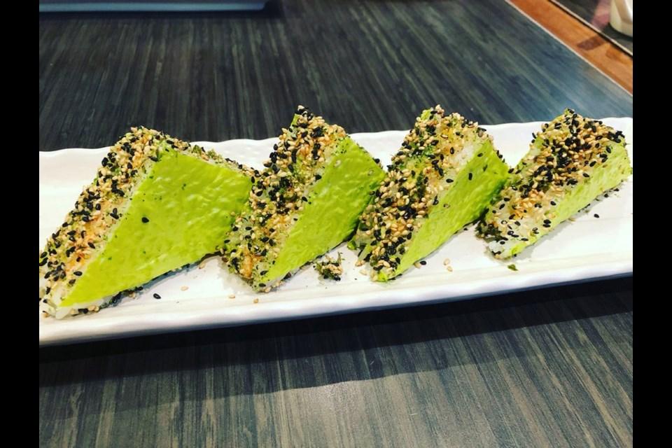 Oyama green sandwich.