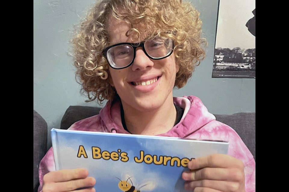 Alpha Secondary School Grade 10 student Scott Mallinson published A Bee's Journey in December.