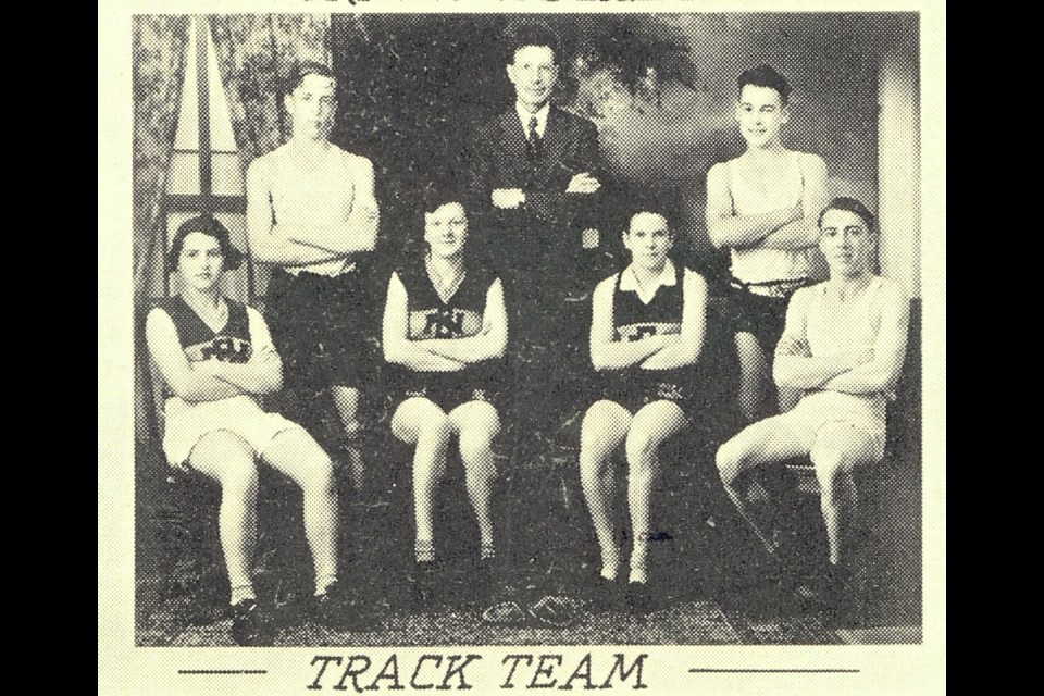 Burnaby North High School's 1935-1936 track team had six entries in the seventh annual  track and field meet 85 years ago.