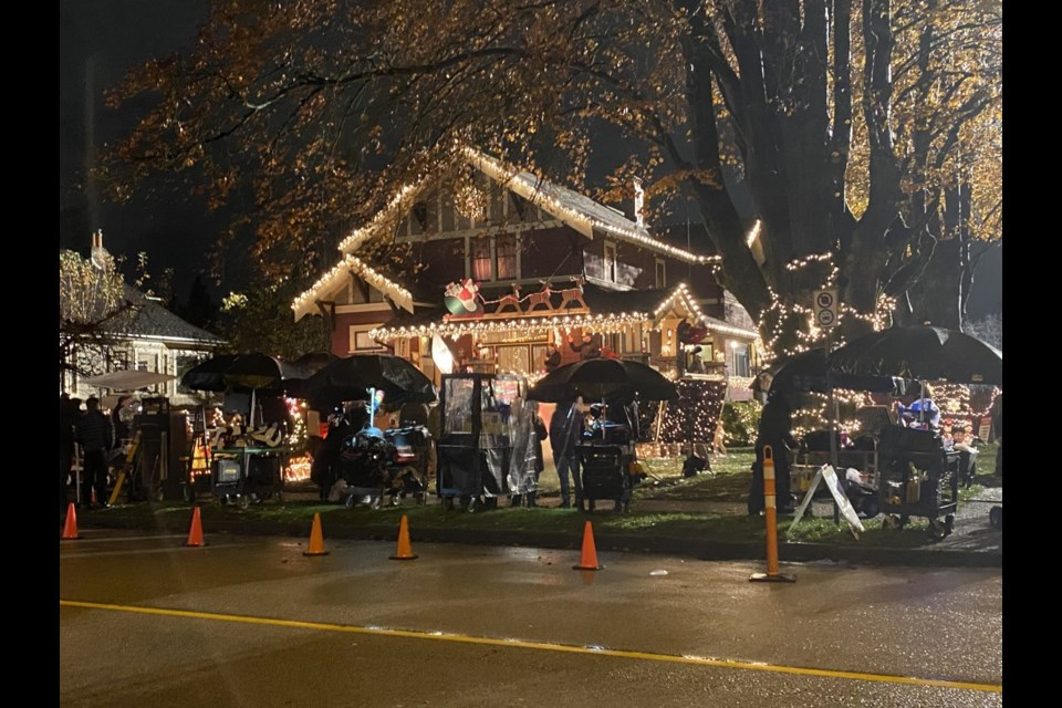 A house on Sixth Avenue was decorated to the hilt for Christmas in November for filming of Love Hard, a romantic comedy from Netflix.