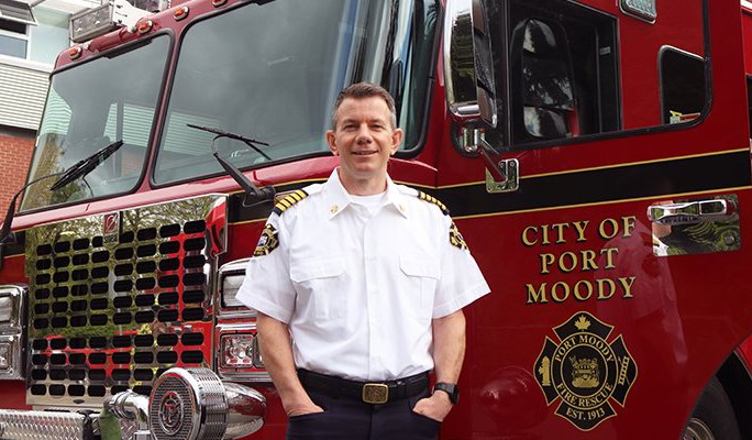 Deputy fire Chief Darcey O'Riordan is leaving the Burnaby Fire Department after 26 years to become chief of Port Moody Fire Rescue next month.