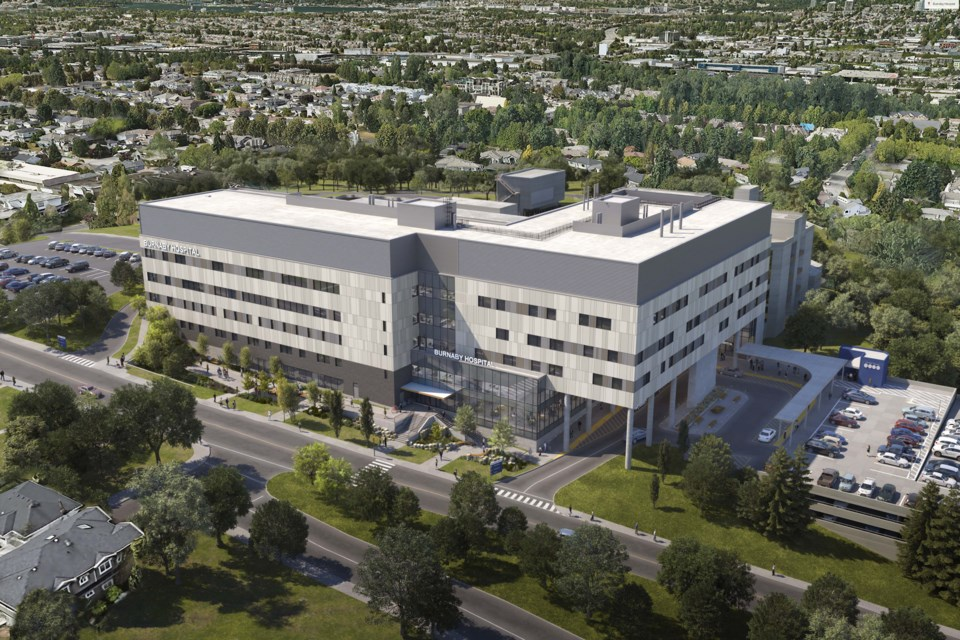 An artist's rendering shows a redeveloped Burnaby Hospital.