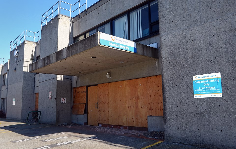 Inpatient mental health services at Burnaby Hospital were shut down on Nov. 15, 2020 after a fire that police say was deliberately set.