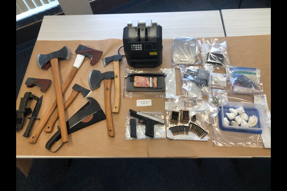 A months-long investigation into a gang-linked drug organization led to the seizure of drugs, weapons and cash last week.