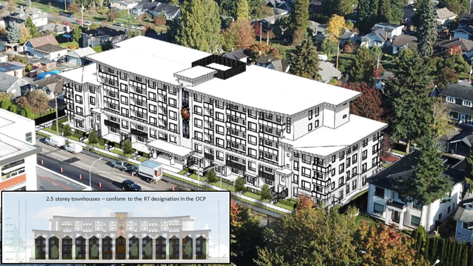 Sixth Street massing rendering - contributed by residents