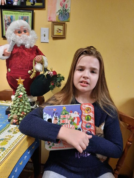 Sophia, 10, has been provided with speech and language therapy. Photo via Variety - the Children's Charity of BC.