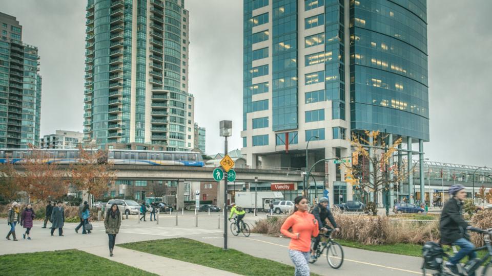Walking, cycling, transit