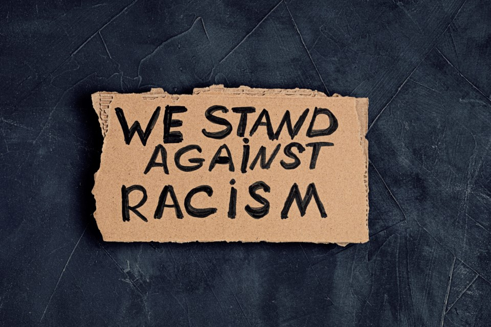Stand Against Racism sign