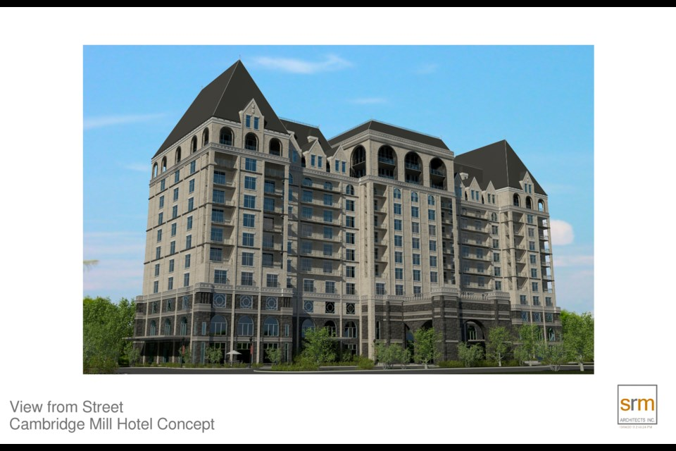 The developer says these 2015 renderings of Cambridge Mill Development were redone based on council and public feedback.
