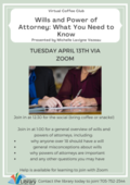 Wills and power of attorney Coffee Club Poster