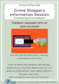 Crime Stoppers Information Session Poster