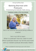 Getting Started with Podcasts Coffee Club Poster