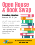 Open house and book swap- October 2019