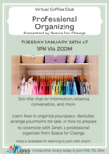 Professional Organizing Poster
