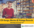 CD Songs, Movies and Vintage Records